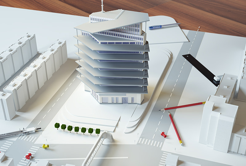 Arhitect's model of Passive Office Building