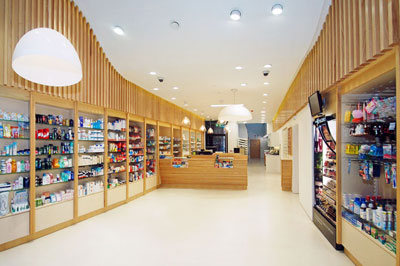 Passive House low energy retail design for pharmacy