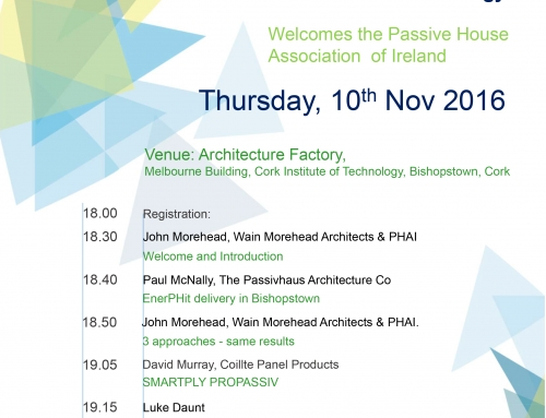 Passive House Association Briefing in Cork Institute of Technology